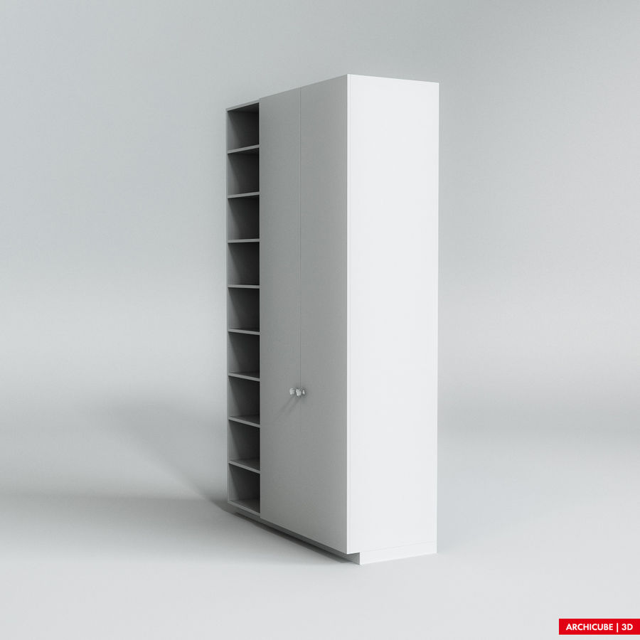 Dresser Cabinet royalty-free 3d model - Preview no. 2
