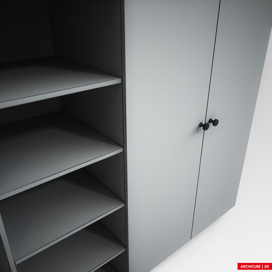 Dresser Cabinet royalty-free 3d model - Preview no. 10