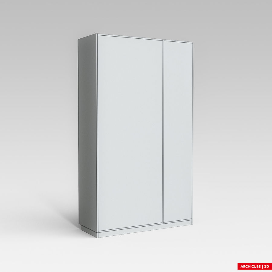 Dresser Cabinet royalty-free 3d model - Preview no. 8