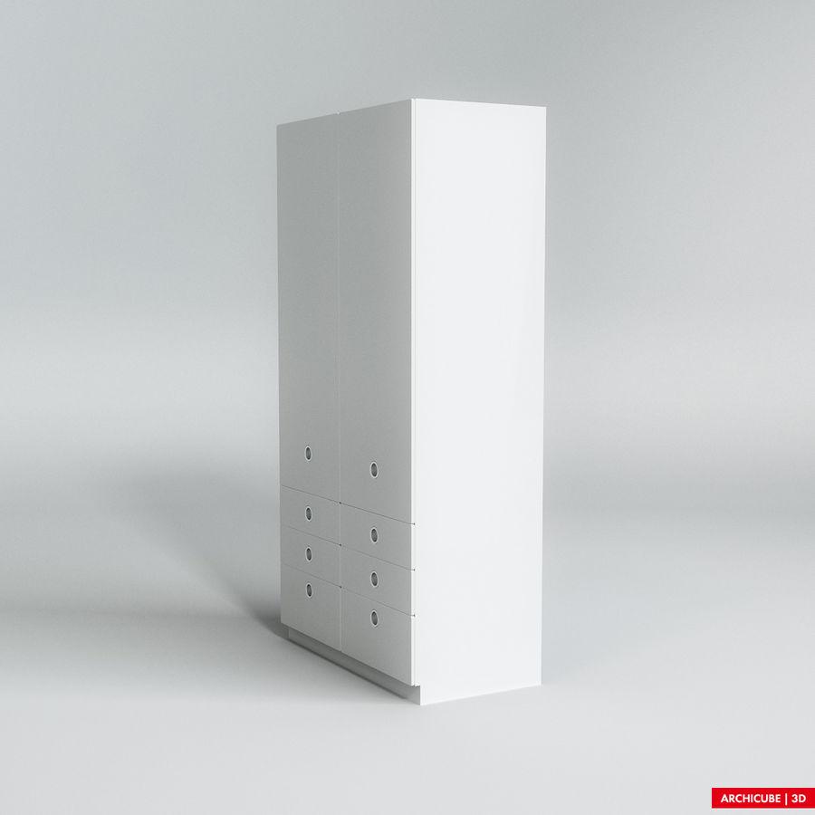 梳妆台柜 royalty-free 3d model - Preview no. 2