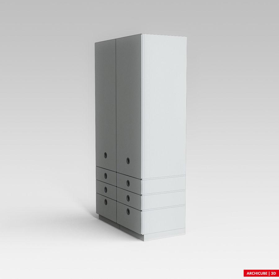 梳妆台柜 royalty-free 3d model - Preview no. 7