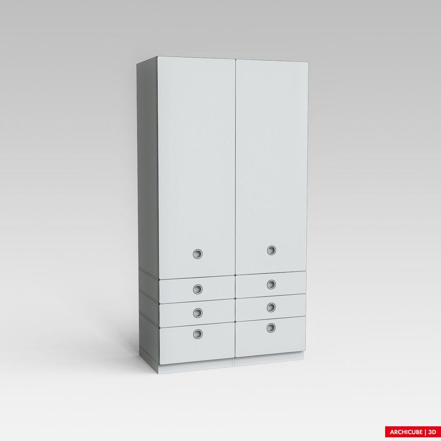 梳妆台柜 royalty-free 3d model - Preview no. 6