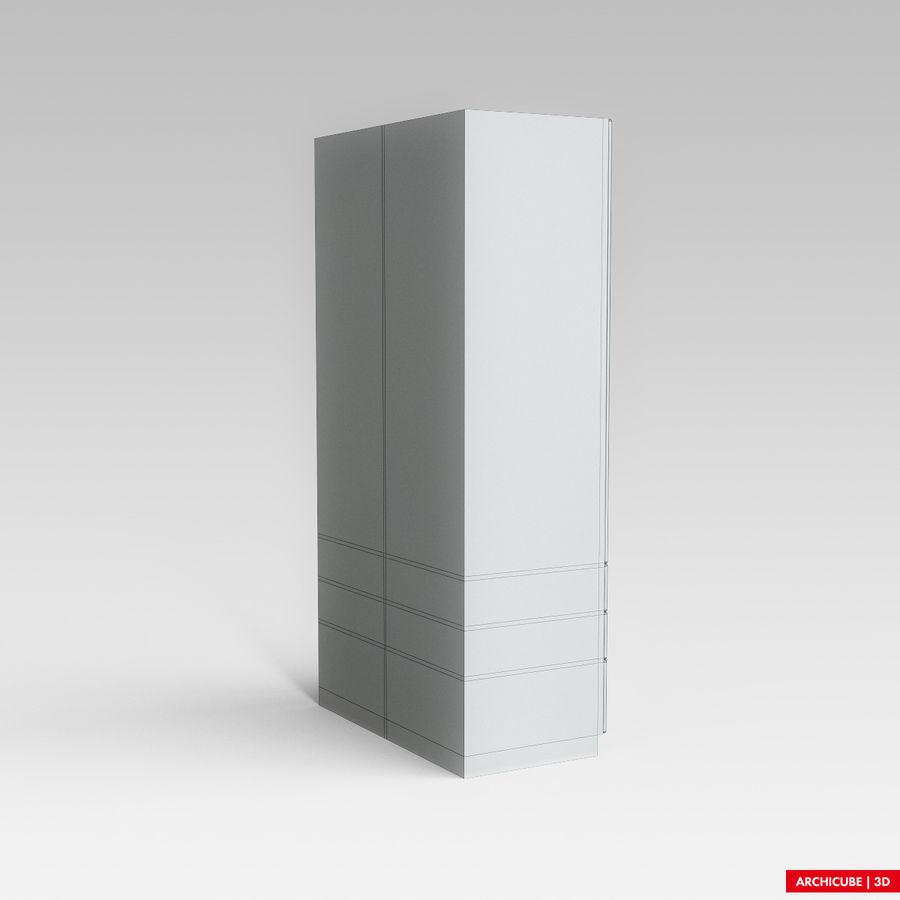 梳妆台柜 royalty-free 3d model - Preview no. 9