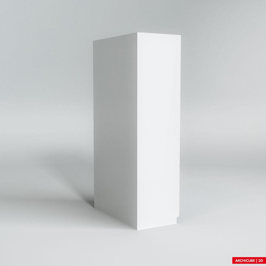 梳妆台柜 royalty-free 3d model - Preview no. 4