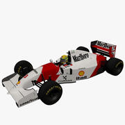 Ayrton Senna und MP4 / 8 3d model