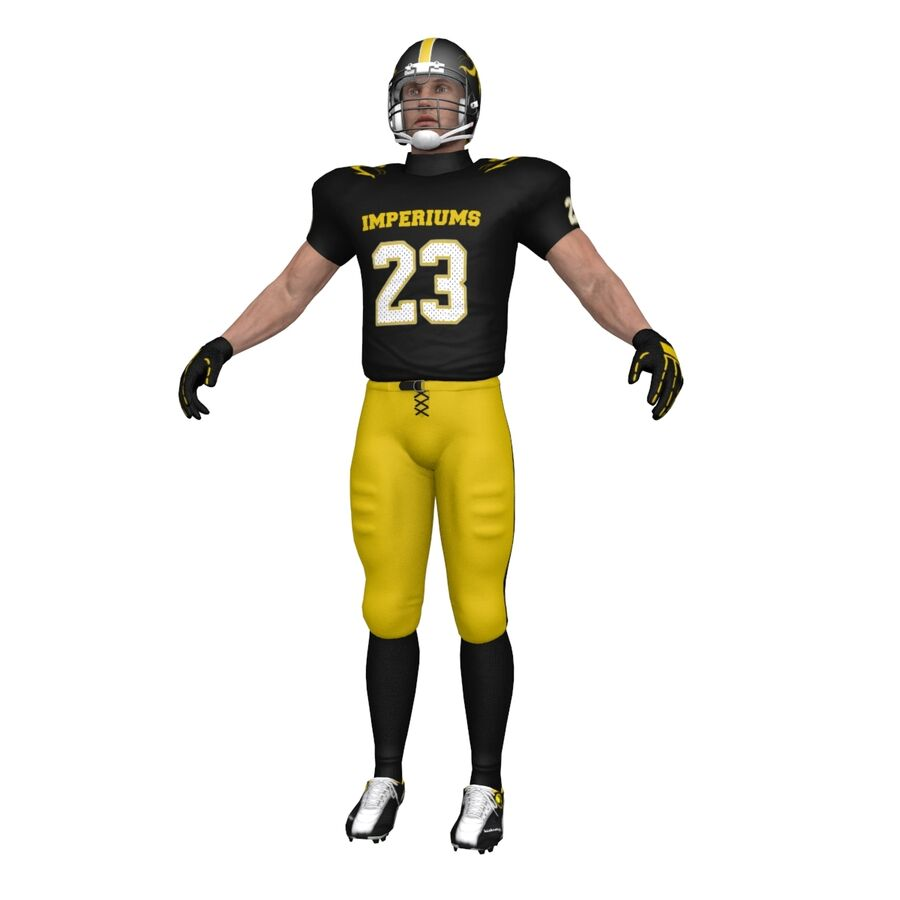 Jugador de fútbol americano royalty-free modelo 3d - Preview no. 7