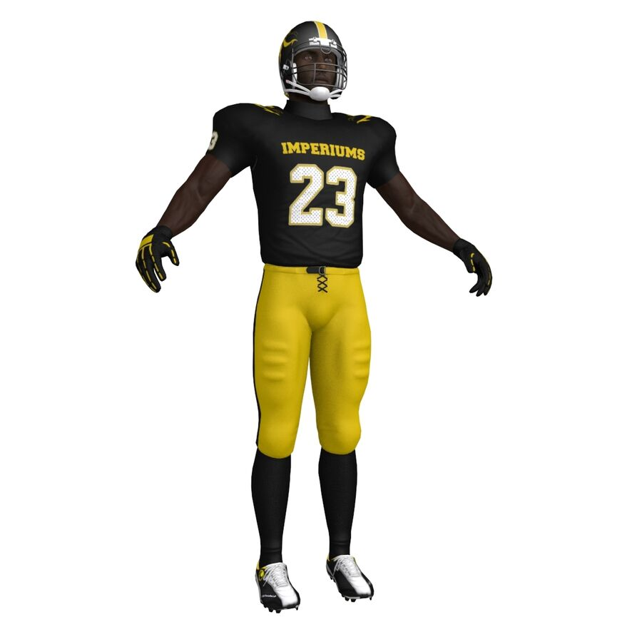 Jugador de fútbol americano royalty-free modelo 3d - Preview no. 6
