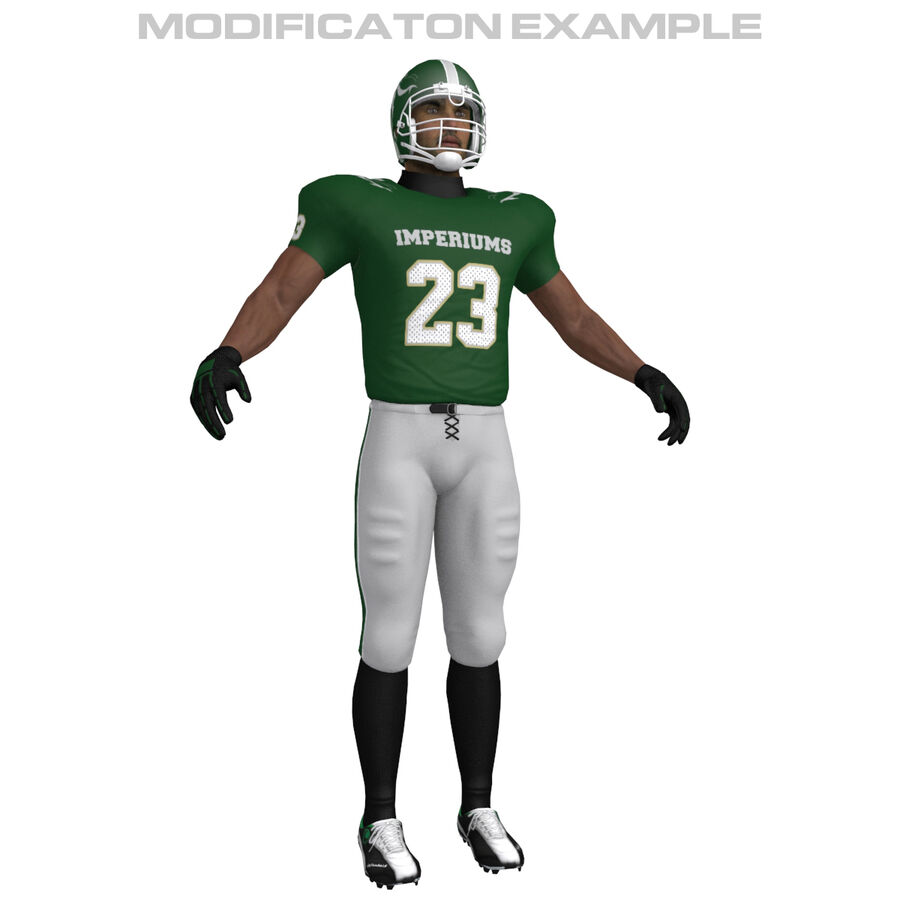 Jugador de fútbol americano royalty-free modelo 3d - Preview no. 4