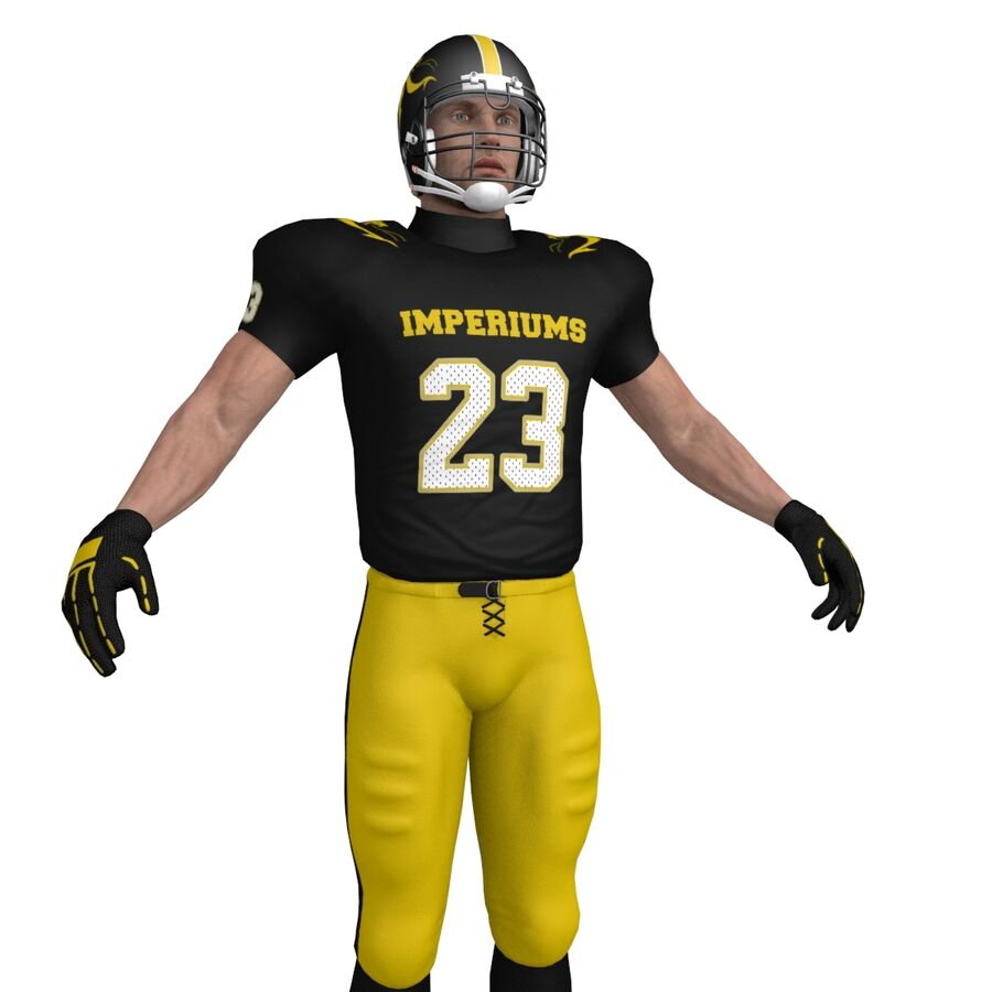 Jugador de fútbol americano royalty-free modelo 3d - Preview no. 11