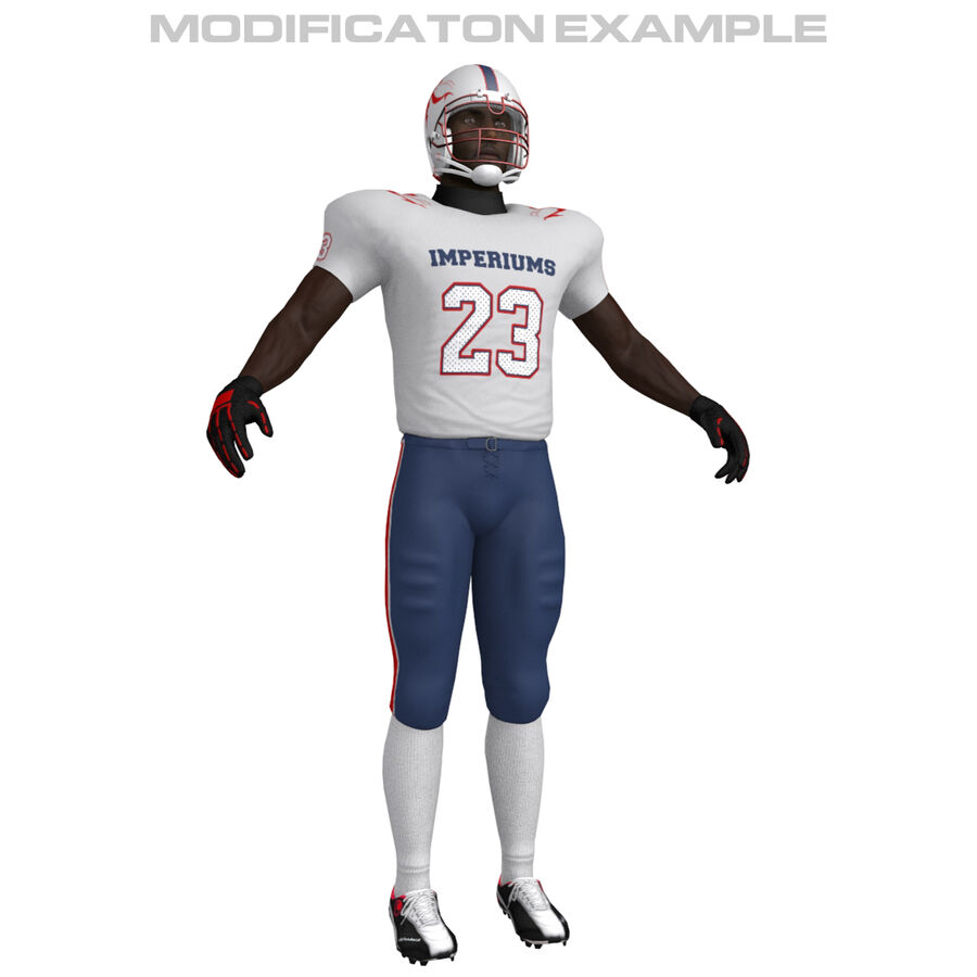 Jugador de fútbol americano royalty-free modelo 3d - Preview no. 3