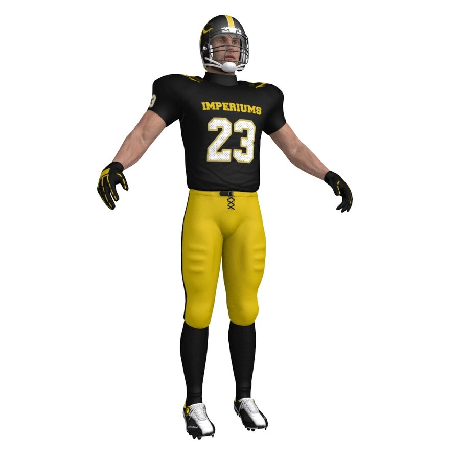 Jugador de fútbol americano royalty-free modelo 3d - Preview no. 2