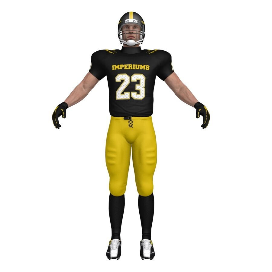 Jugador de fútbol americano royalty-free modelo 3d - Preview no. 5