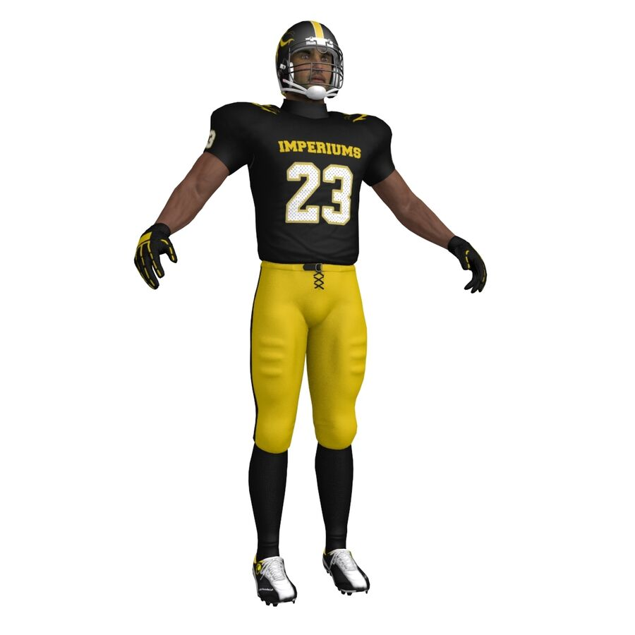 Jugador de fútbol americano royalty-free modelo 3d - Preview no. 8