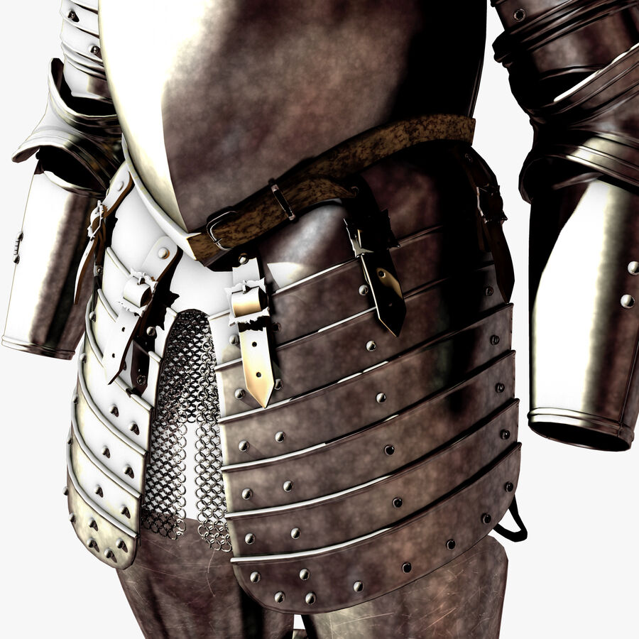 Knight Armor royalty-free 3d model - Preview no. 8