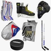 Uitrusting voor ijshockeykeepers 3d model