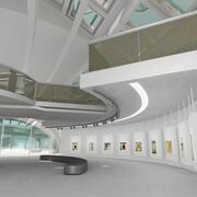 Galeria de arte moderna 3d model