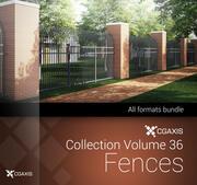 CGAxis Models Volume 36 Fences 3d model