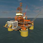 TLP oceaan booreiland 3d model