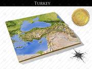 Türkiye, Yüksek çözünürlüklü 3 boyutlu kabartma haritalar 3d model