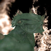 Dragon man riggade mytisk varelse 3d model