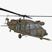 Halcón negro MH-60 modelo 3d