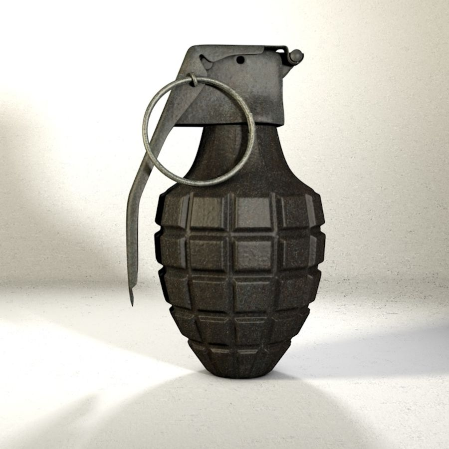 Grenade Pack royalty-free 3d model - Preview no. 12