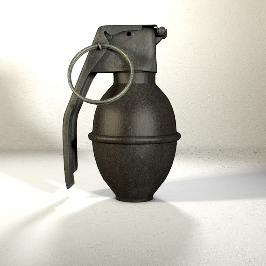 Grenade Pack royalty-free 3d model - Preview no. 6