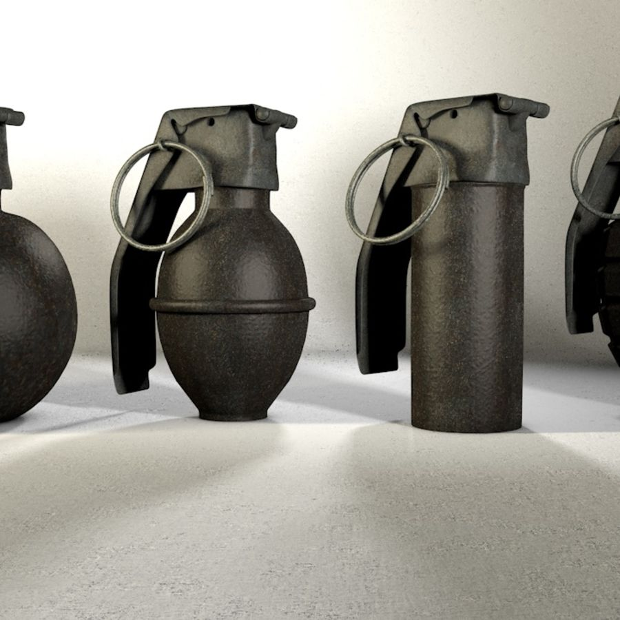 Grenade Pack royalty-free 3d model - Preview no. 1