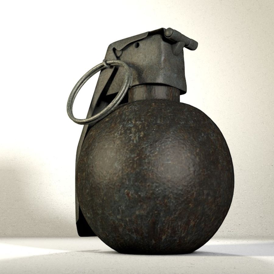 Grenade Pack royalty-free 3d model - Preview no. 5
