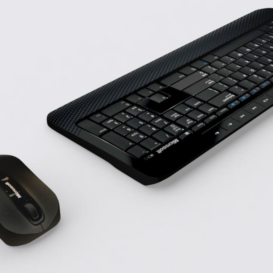 マイクロソフトワイヤレスキーボードとマウス royalty-free 3d model - Preview no. 2