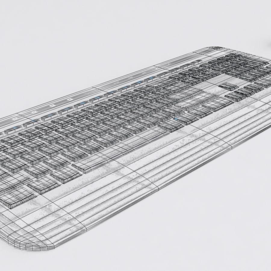 マイクロソフトワイヤレスキーボードとマウス royalty-free 3d model - Preview no. 5