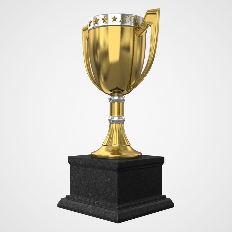 Trophy Cup royalty-free 3d model - Preview no. 4