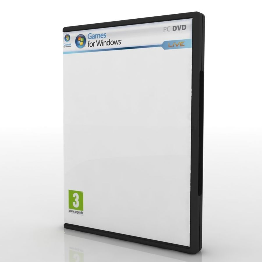 PC/Ps3/Xbox - Game box Case royalty-free 3d model - Preview no. 4
