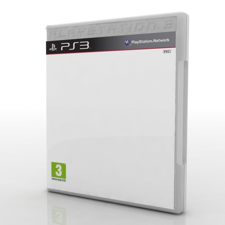 PC/Ps3/Xbox - Game box Case royalty-free 3d model - Preview no. 3