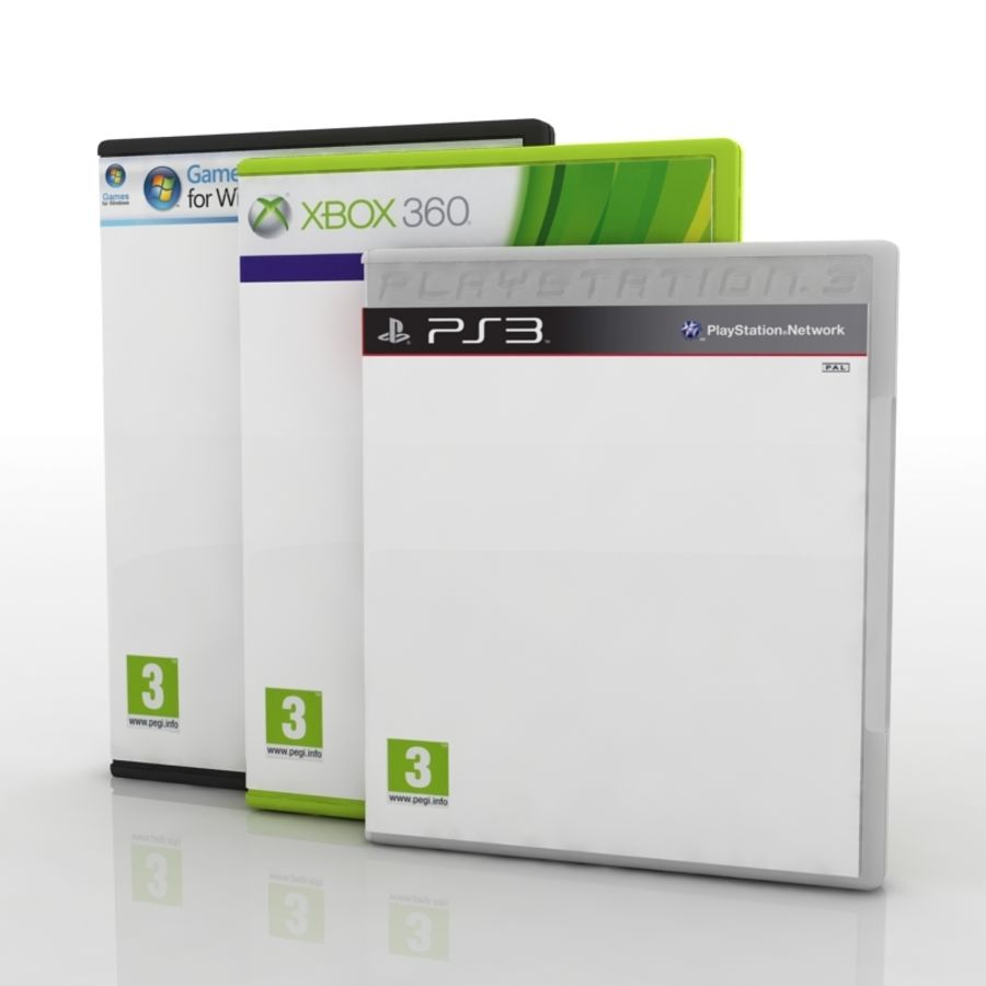 PC / Ps3 / Xbox - чехол для игровой приставки royalty-free 3d model - Preview no. 2