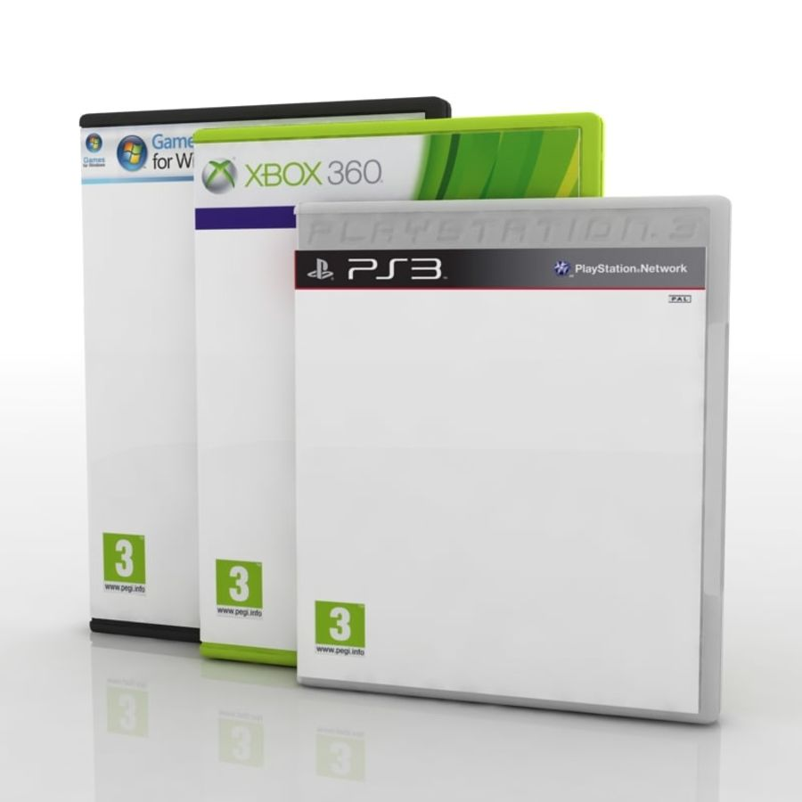 PC/Ps3/Xbox - Game box Case royalty-free 3d model - Preview no. 2