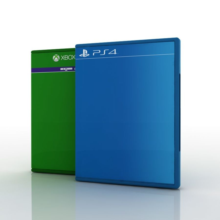 PS4 & Xbox One Game Case royalty-free 3d model - Preview no. 1