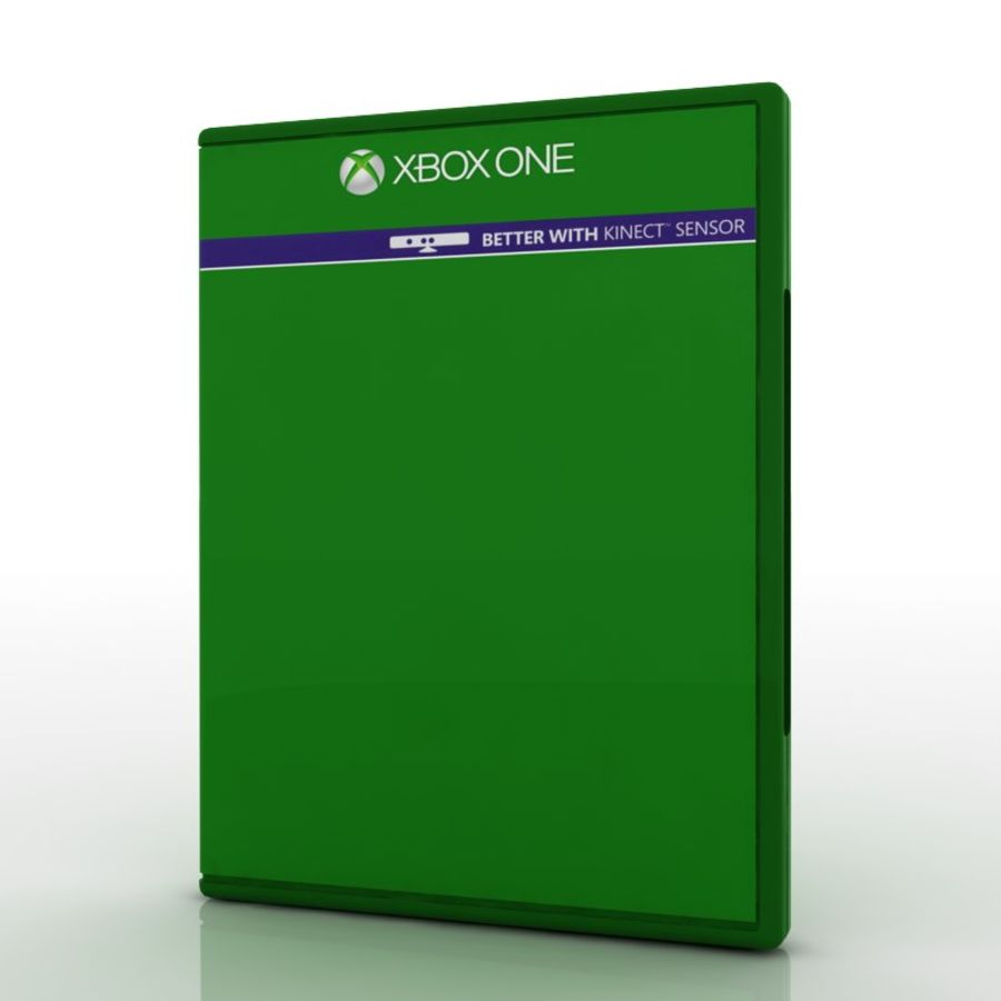 PS4 & Xbox One Game Case royalty-free 3d model - Preview no. 3