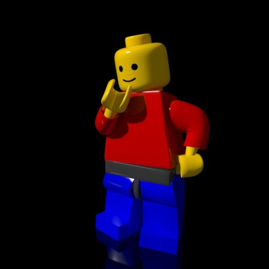 Lego Rigged Minifigure royalty-free 3d model - Preview no. 5