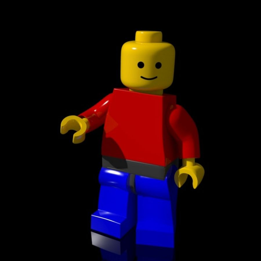 Lego Rigged Minifigure royalty-free 3d model - Preview no. 3