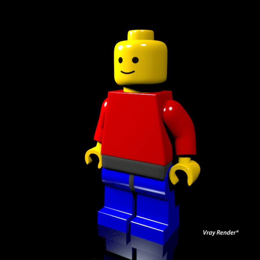 Lego Rigged Minifigure royalty-free 3d model - Preview no. 2