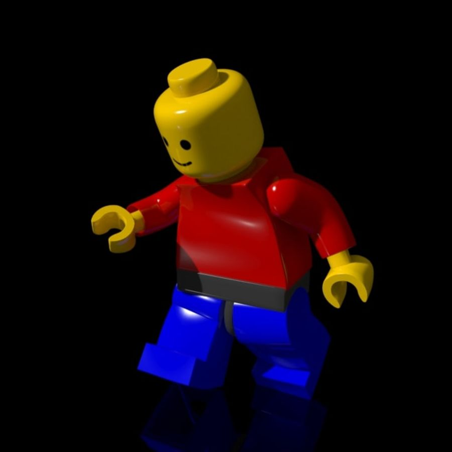 Lego Rigged Minifigure royalty-free 3d model - Preview no. 4