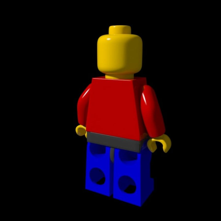 Lego Rigged Minifigure royalty-free 3d model - Preview no. 6
