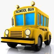 漫画スクールバス 3d model