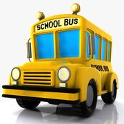 Cartoon schoolbus 3d model
