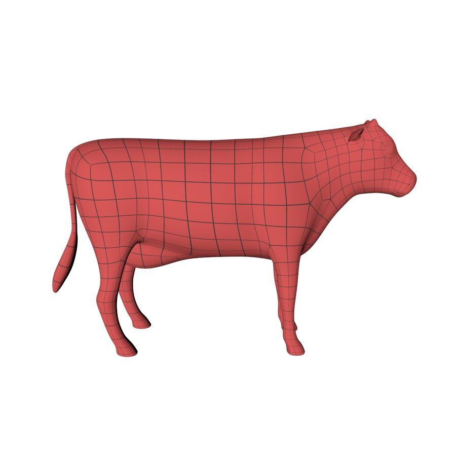 Cow base mesh royalty-free 3d model - Preview no. 1