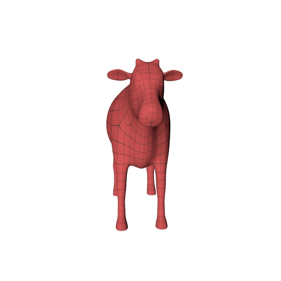 Cow base mesh royalty-free 3d model - Preview no. 3