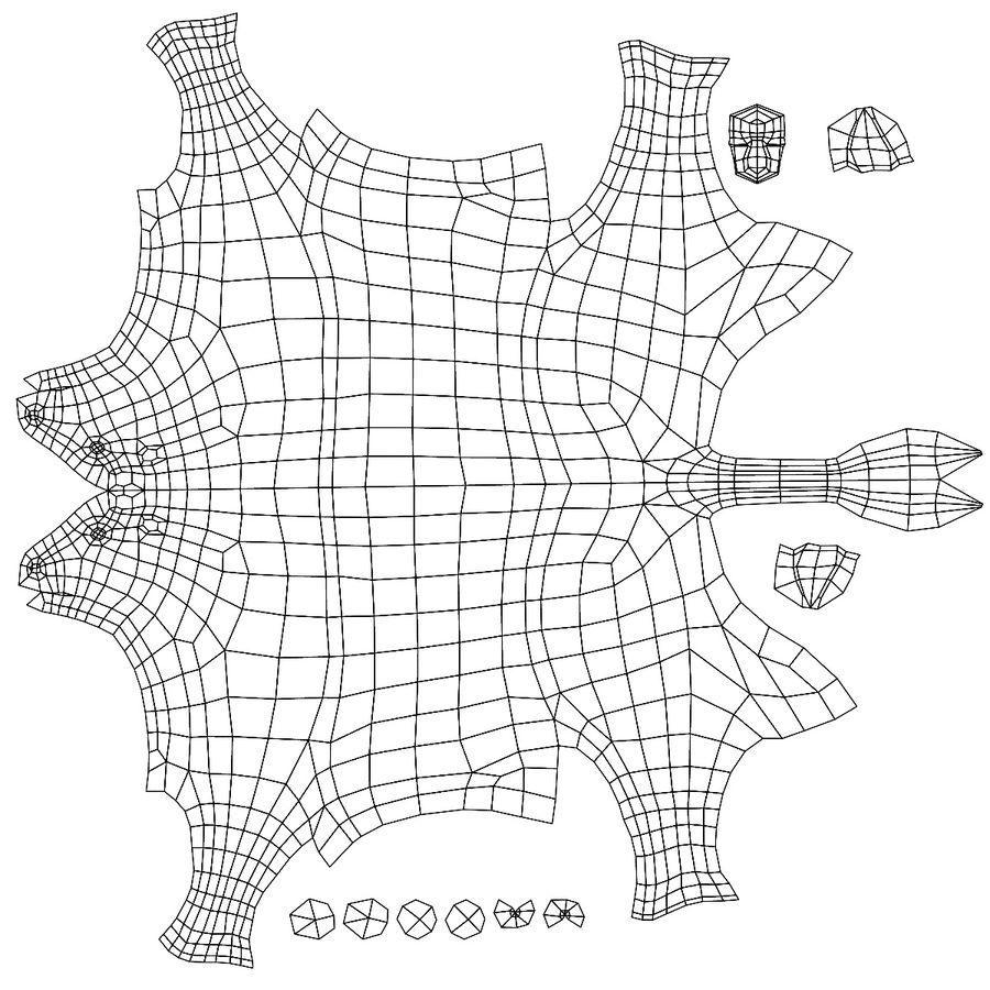 Cow base mesh royalty-free 3d model - Preview no. 7