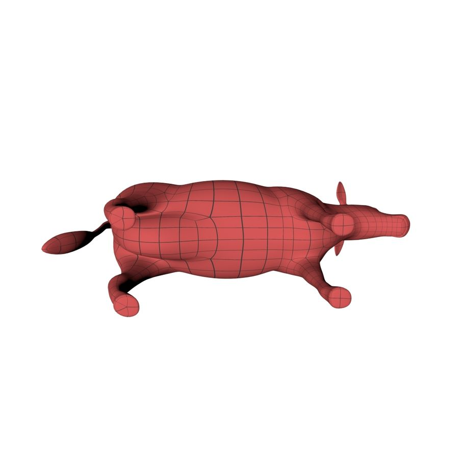 Cow base mesh royalty-free 3d model - Preview no. 5