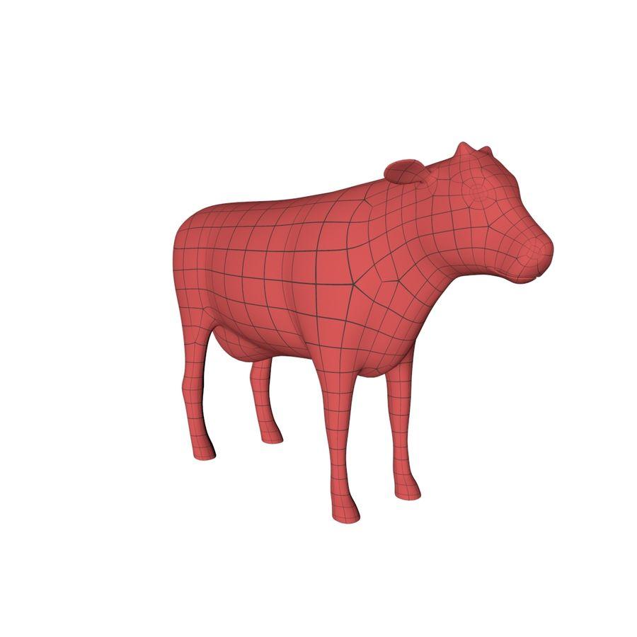 Cow base mesh royalty-free 3d model - Preview no. 2